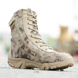 Hombres al aire libre Caza Botas altas Otoño Invierno Botas de cuero a prueba de agua Desert Safty Zapatos de trabajo Combat Botines desde fabricantes