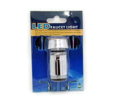 Wholesale Faucet Lamp - Wholesale- Multiple Colors Water Power Control LED Colors LED Faucet Light +Adapter Basin LED Light Lamp