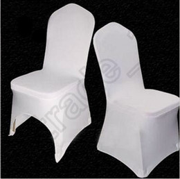Wholesale Universal Cover Chair - 200pcs CCA4085 High Quality Universal White Polyester Spandex Wedding Chair Covers For Weddings Banquet Folding Hotel Decoration Chair Cover