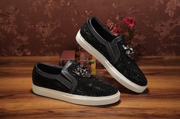 Wholesale Shoes Europe Men - Europe and the tide brand men cool low-top trainers shoes leisure shoes in fashion personality diamond sapatos hombre