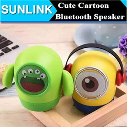 Wholesale Minions Despicable Usb - Minions Cute Cartoon Despicable Me Mini Bluetooth Speaker Portable Wireless Music Player Subwoofer support FM USB TF Card Handsfree