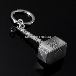 Wholesale Thor Key Ring - The Avengers MJOLNIR key ring keychain Hammer keyring Key Chain The Avengers Thor Hammer Thor's Hammer Keychains Pendant