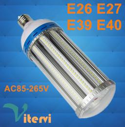Wholesale E27 27w Led - High lumen LED Corn Light Bulb AC85-265V led bulb 27W 36W 45W 54W 80W 100W 120W E27 E40 Garden Warehouse parking lot lighting