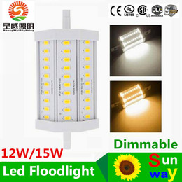 Wholesale R7s 118mm 12w - r7s led 118mm 12W 15w High power dimmable r7s led 118mm light 15W R7S led lamp replace 150w halogen lamp AC85-265V free shipping