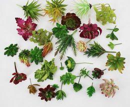Wholesale Mini Succulents - New Arrive Simulation Succulents artificial flowers ornaments mini green Artificial Succulents Plants garden decoration