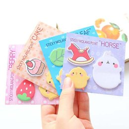 Wholesale Kids Sticker Books - Cute 20 sets lot Sticker Bookmark Tab Flags Memo Book Marker Sticky Notes School Office Paper Stationery New Kid Prize Gift