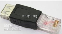 Wholesale Female Usb Ethernet Adapter - USB A Female to Ethernet RJ45 RJ-45 Adapter Connector Converter