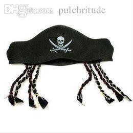 Wholesale Eva Hats - Wholesale-Halloween products feature pirates hat braid Eva cap wacky props free shipping