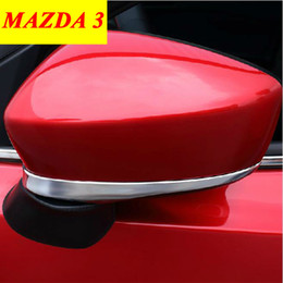 Wholesale Car Side Mirror Accessories - For 2014 2015 MAZDA 3 Rear View Mirror Cover Trim ABS Chrome Side Mirror Cover Trim Protective Decoration Car Accessories 2pcs