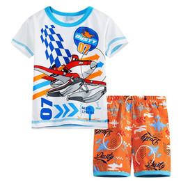 Estate Bambini Pigiama Set Baby Boys Gilrs Sleepwear Maniche corte Pigiama Cotone Costume Bambini Camicia da notte Abbigliamento Pigiama SP97 da
