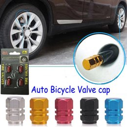 Wholesale Bmw Valve Stem Caps - New 4pcs pack Theftproof Aluminum Car Wheel Tire Valves Tyre Stem Air Caps Airtight Cover hot selling