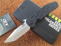 "Wholesale Fish Shaped - Zero Tolerance 0620 Tanto Knife G10 (3.6"" Satin) ZT 9Cr18MOV wave shaped opening Frame Lo EDC Pocket tactical knives zt0620"