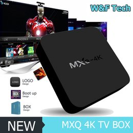 Wholesale Intelligent Pc - MXQ-4K Smart Android TV Box Android 6.0 RK3229 Quad Core 32bit UHD 4K HDMI Mini PC WiFi Miracast DLNA Intelligent Smart Player