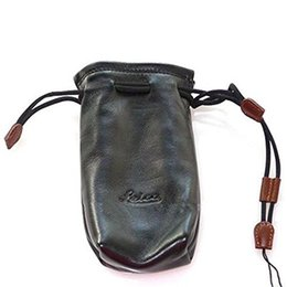 Wholesale For Leica Digital Camera Case Cover Hand Pouch High Class Leather Large Space Black Bag for Leica C D6 with Adjustable Bandage