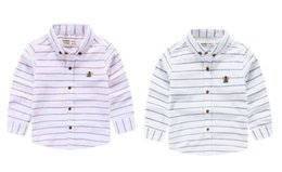 Wholesale Princess Chest - Princess style white striped boy shirt front chest with nice embroidery comfortable wear mix different sizes
