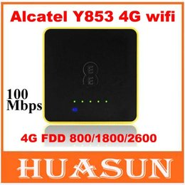 Wholesale One Touch Wifi - DHL EMS free shipping 4G Wifi Router Alcatel One Touch Y853 4G Mobile Hotspot with sim card slot