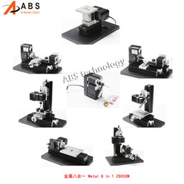 Wholesale Milling Machine For Wood - All-Metal 8 in 1 Mini Lathe without Bow-arm, Milling ,Drilling ,Wood Turning, Jag Saw, Sanding Machine, Best Gift for Students