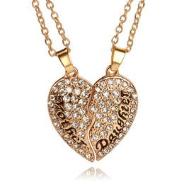 Подвеска для материнской дочери онлайн-Сердце лучшие друзья мама и дочь кулон ожерелье набор День матери подарок