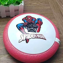 Wholesale Outdoor Led Light Battery - Avengers Air Power Soccer Hover Disk Foam Bumpers Captain America Superman Spiderman Ironman LED Lights Indoor Outdoor Interactive Toys