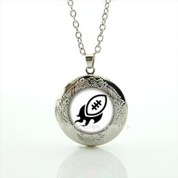 Wholesale Children Vintage Necklace - Vintage cartoon picture locket necklace Newest mix 32 sport rugby football silver plated jewelry gift for children and kids NF086