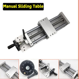 Wholesale Cnc Y - CNC Manual Sliding Table Cross Slide X Y Z Axis Linear Stage SFU1605 Ballscrew C7 Linear Motion Actuator DIY Milling Engraving