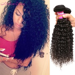 Wholesale very curly hair - Malaysian Kinky Curly Hair Weave 3 Bundle Kinky Curly Hair Extensions In Stock Very Cheap Malaysian Human Hair Weave Malaysian Kinky Wave