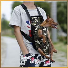 sacs à provisions pour chiens en gros Promotion Sac pour chien Accessoires pour chiens Porte-chat Cinq trous Sac à dos Front Chest Sac à dos Rose Bleu clair Noir Produits pour animaux de compagnie