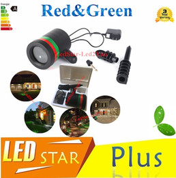 Wholesale Uk Room Decor - Outdoor Star LED laser light project christmas lights red green thousands laser lights AC110-240V for garden Christmas tree decor
