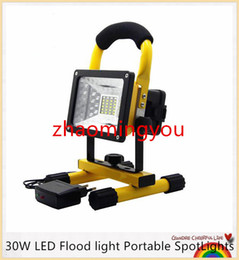 batería led luces de trabajo Rebajas Impermeable IP65 SMD3528 24LED 3models 30W Luz de inundación LED SpotLights portátil Luz de emergencia de trabajo de LED recargable al aire libre