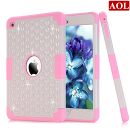 Estuches bling para ipad mini online-Para iPad Mini4 Case Nueva Moda Bling Diamond Starry Rubber PC + Funda híbrida de silicona para iPad Mini 3 2 1 Coque Capa