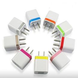 Wholesale Europe Ac Power Plug Usb - USB EU US Plug AC Wall Charger Europe Travel Power Adapter For iPhone Samsung LG G4