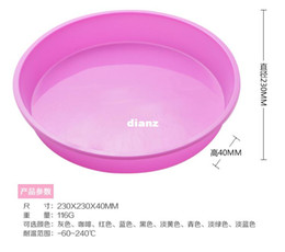 Wholesale Pizza Pans - Fashion Hot Round Silicone Pizza Pan for Baking Wedding Cake Pizza Pie Bread Loaf for Microwave Oven