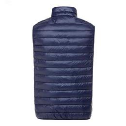 Chaquetas de puffs online-Otoño invierno de los hombres Ultra Light Down doble cara cremallera Puff chalecos chalecos chaquetas chaleco de invierno chaquetas 5 colores