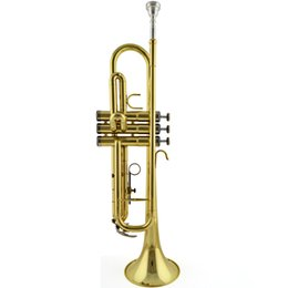 Wholesale Musical Directing - Wholesale- Original professional JinBao brand trumpet Musical Instruments major JBTR-300 Factory direct Golden Beginner Bb adjust