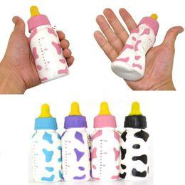 Wholesale Slow Feed - 10cm Jumbo Squishy Slow Rising Baby Feeding Milk Bottle Cute Fun Kawaii Kids Toys Present Phone Key Straps Charms Random Free Shipping