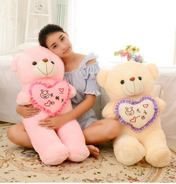 Wholesale Large Bear Stuffed Animal - 70CM Large Teddy Bear, Lovers Big bear Arms Stuffed Animals Toys Plush Doll ,retails,gifts for girl filled with