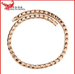 Wholesale Ms Power - Jewelry Magnetic titanium necklace titanium necklace 50cm 8mm factory wholesale germanium titanium pendant necklace Ms. M