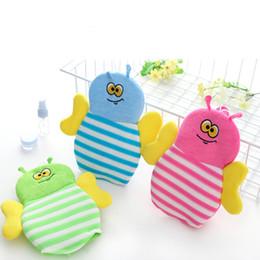 Wholesale Wholesale Fishing Gloves - Children Favor Bee Fish Puff Bathing Sponge Bathing Brush Glvoe Shower Tools Supplies 5pcs lot P009