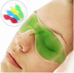 Wholesale Wholesale Gel Packs - FREE FEDEX DHL Mix colors ice eye Mask Shading Summer ice goggles relieve eye fatigue remove dark circles eye gel ice pack sleeping masks