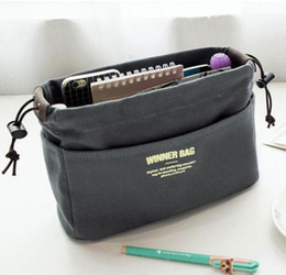 Wholesale Large Canvas Purse - Easy Carry Large Handbag Purse Dual Organizer Canvas Fashion Cosmetic Storage Bags Profissional Toiletry Bag