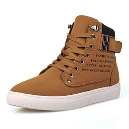 Wholesale New Style Boots For Men - British Style Men's Autumn Winter Snow Boots Lace up New Fashion Men Casual Shoes Ankle Motorcycle Boots For Men Big Size 39-44 J51