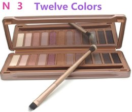Wholesale Matte Eyeshadow Naked - Hot Sales Naked Palette 2017 NEW 12 Colors Professional Makeup Eyeshadow Make up Set DHL FREE SHIPPING