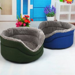 Wholesale Blue Beds - 2016 Plush kennel, washable kennel new autumn and winter leather sofa dog beds Blue and Green