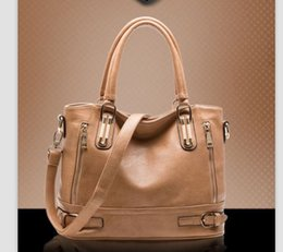 Wholesale Big Computer Bag - NO.1 NEW 2016 Genuine Leather Bags For Women Famous Brand Women Messenger bags Retro Women Leather Bags Women's Shoulder Bags Big
