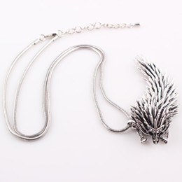Wholesale Chinese Dragon Necklace Wholesale - New Classic Style Fashion Chinese Dragon Pendant Necklace Women Alloy Crystal Hedgehog Snake Chain Necklace Choker Femme N419