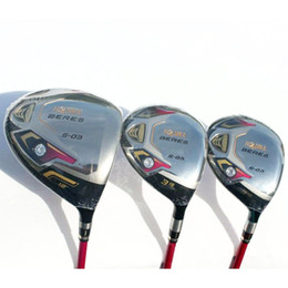 Wholesale Women S Golf Clubs - New womens Golf clubs HONMA S-05 3 star driver 3 5 fairway wood graphite Golf shaft cover Golf wood set free shipping