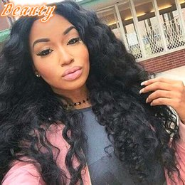 Wholesale Human Lacefront Wigs - Free Part Natural Hair Wig 100 Percent Brazilian Hair Wigs Loose Wave Brazilian Full Lace Wig Human Hair Lacefront Wigs