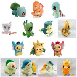 Wholesale Cyndaquil Figure - Anime figure Pikachu Charmander Bulbasaur Snorlax Dragonite Cyndaquil Raichu Stuffed Animals Plush Doll Toys For Children