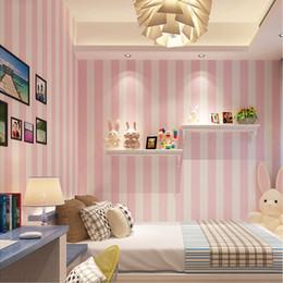 Koreanische Art Rosa Kinderzimmer Schlafzimmer Tapete Für Kind Raum Moderne  Vertikale Gestreifte Nicht Gewebte Tapete Wohnzimmer Dekor