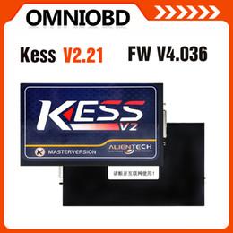 Wholesale Kess V2 - Hottest KESS V2 V2.21 OBD2 Tuning Kit NoToken Limit Kess V2 Master FW V4.036 Master version free ship